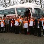 supporters op weg naar Amersfoort