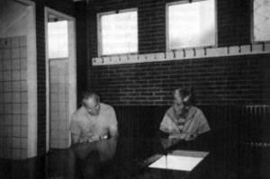 De kleedkamers in 1988 waren nog in oude staat