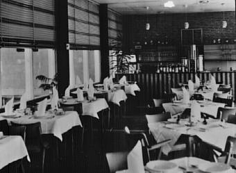 Het restaurant anno 1961
