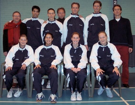 Het succesvolle team 1 van seizoen 2003 - 2004