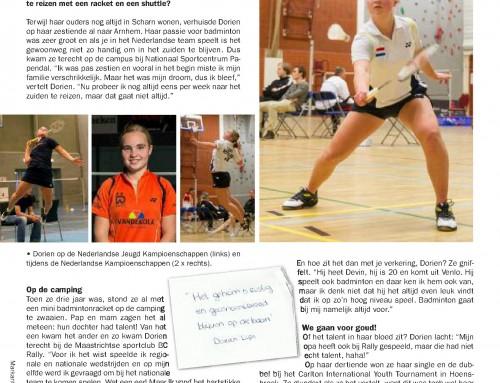 """Uit de media: """"Neerlands trots op het badmintonveld"""""""